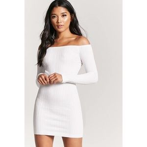 White off the shoulder forever 21 dress